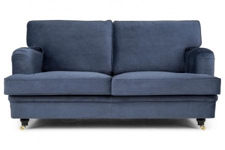 Blå sammetssoffa